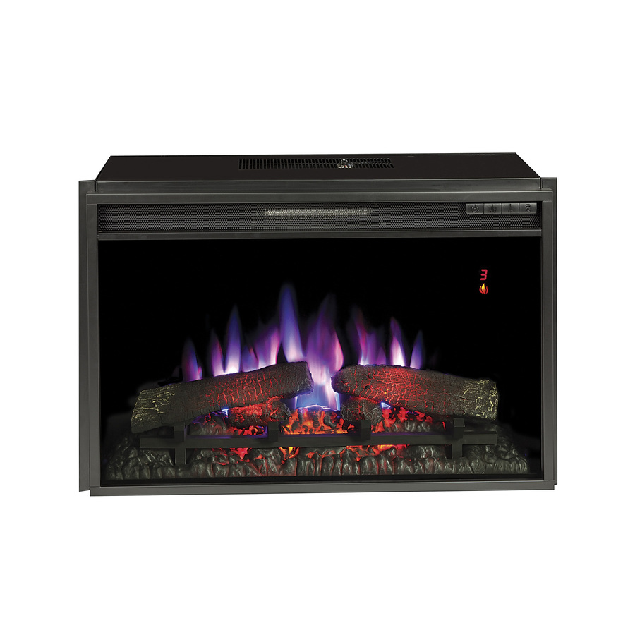 28 3125 In Black Electric Fireplace Insert At Lowes Com Electric