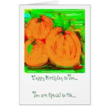 """Birthday Card """"Vintage Orange"""" Design"""