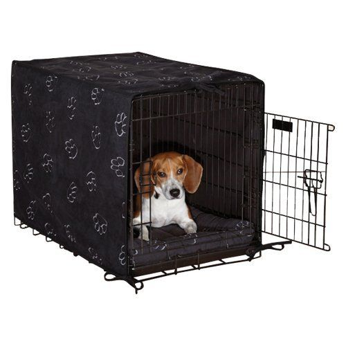 Proselect Polyester Pawprint Dog Crate Cover And Bed Set X Small 2 Pack Black Proselect Http Www Amazon Com Dp Dog Bed Buy Covered Dog Bed Pet Bed Cover