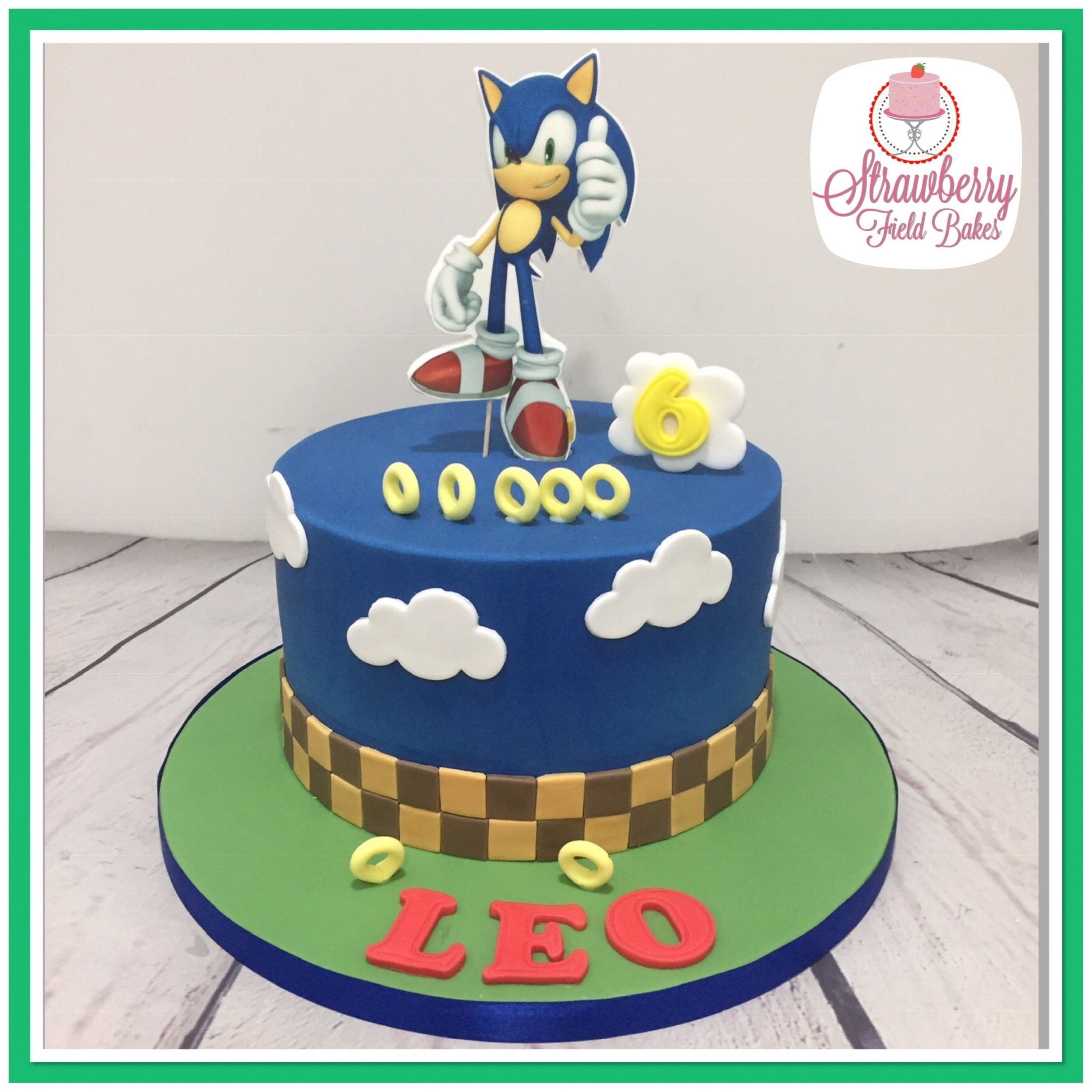 Sonic The Hedgehog Birthday Cake Intended For Trending This Year