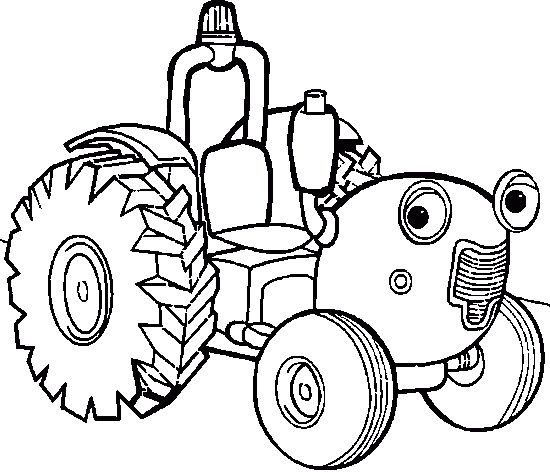 Cartoon Car Tractor Coloring Page Cartoon Car Car Coloring Pages
