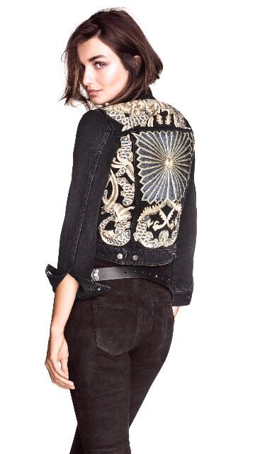 Pin By Deeps Now On Demin Embroidered Denim Jacket Embroidered Denim Diy Denim Jacket