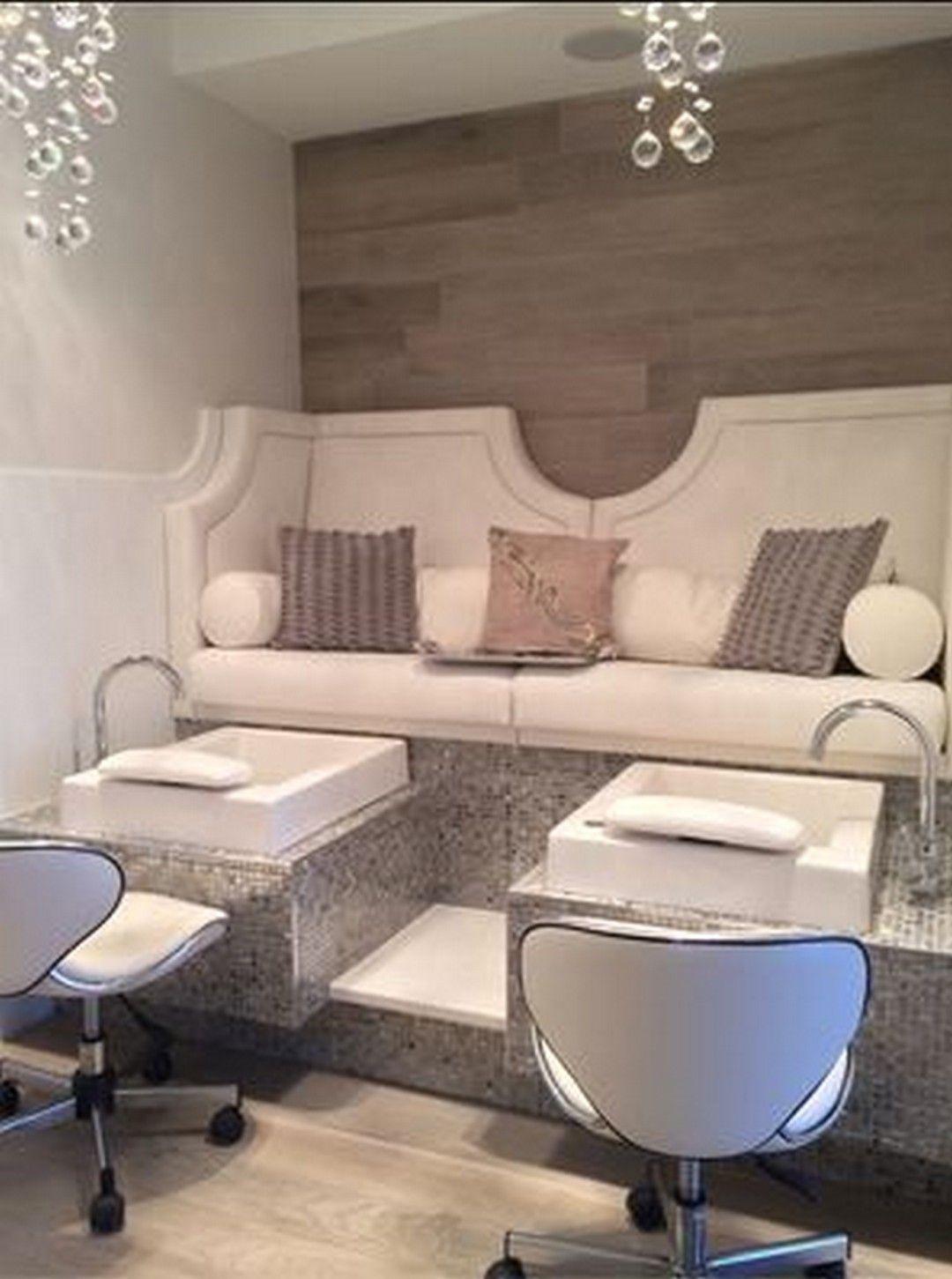 37 Excellent Indoor Spa Decorating Ideas Https Www Onechitecture Com 2018 03 03 37 Excellent Indoor Sp Pedicure Salon Salon Interior Design Nail Salon Design