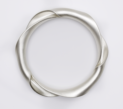 "BANGLE FROM THE ""TWIST"" COLLECTION 925 SILVER. BY LEEN HEYNE-NL."
