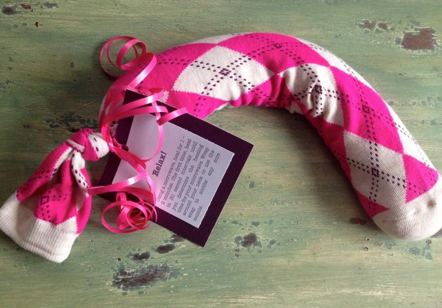 Make This Easy Diy Aromatherapy Neck Wrap With A Sock And Rice Great Gift To Pamper Friends Or Ideal As Get Well