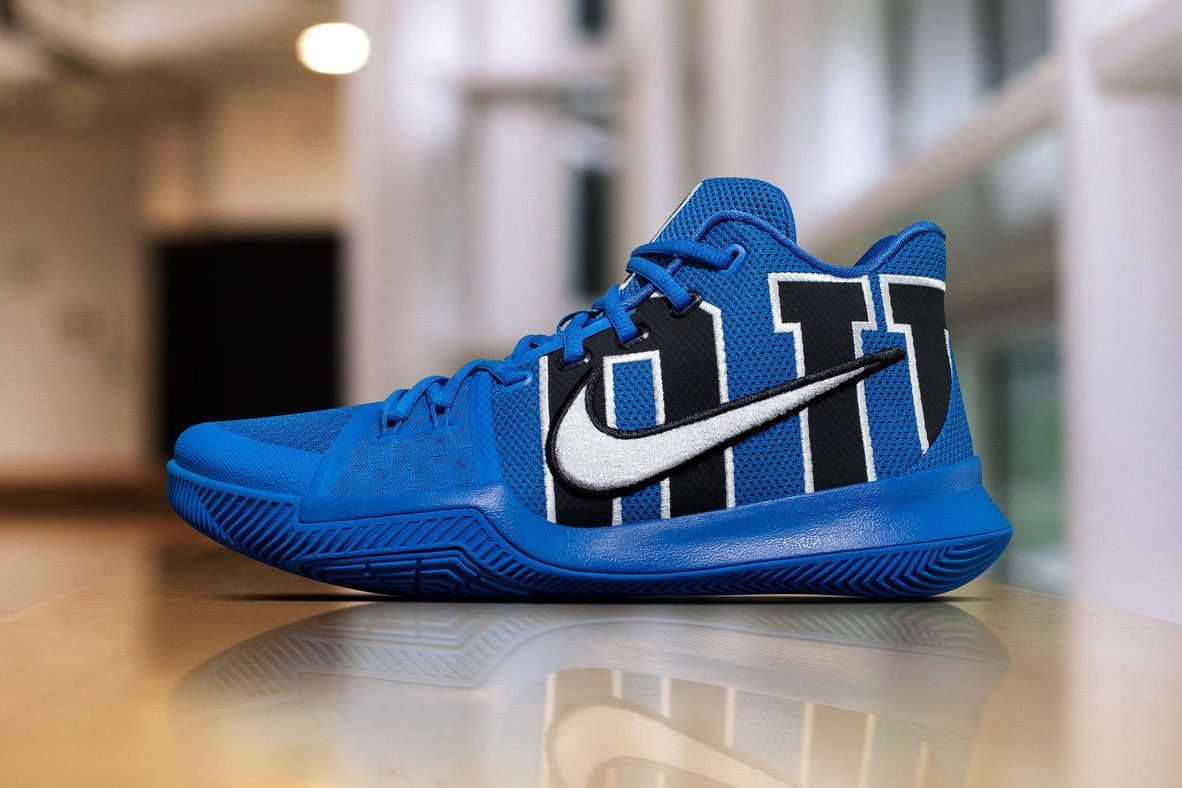 6dad1478bf0b Nike s Kyrie 3 Feels the Blues With Special Duke PE Kyrie Irving Shoes