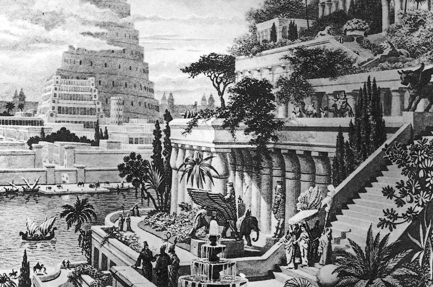 Die Hangenden Garten Von Babylon Myhomebook Bilder Kunstwerke Persien