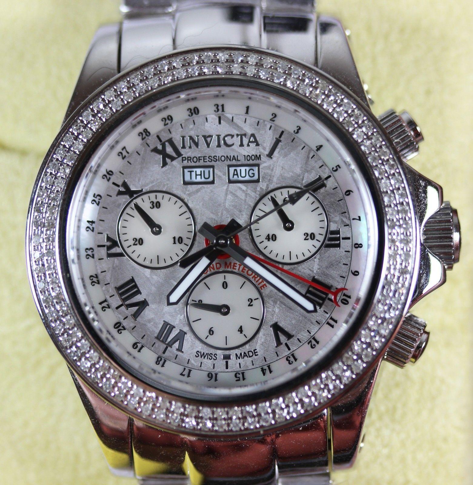 Mens Invicta 2911 Diamond Meteorite 100M Chronograph Wrist Watch - NEW IN BOX https://t.co/FCV1HjKr3g https://t.co/Bym9qKydmU