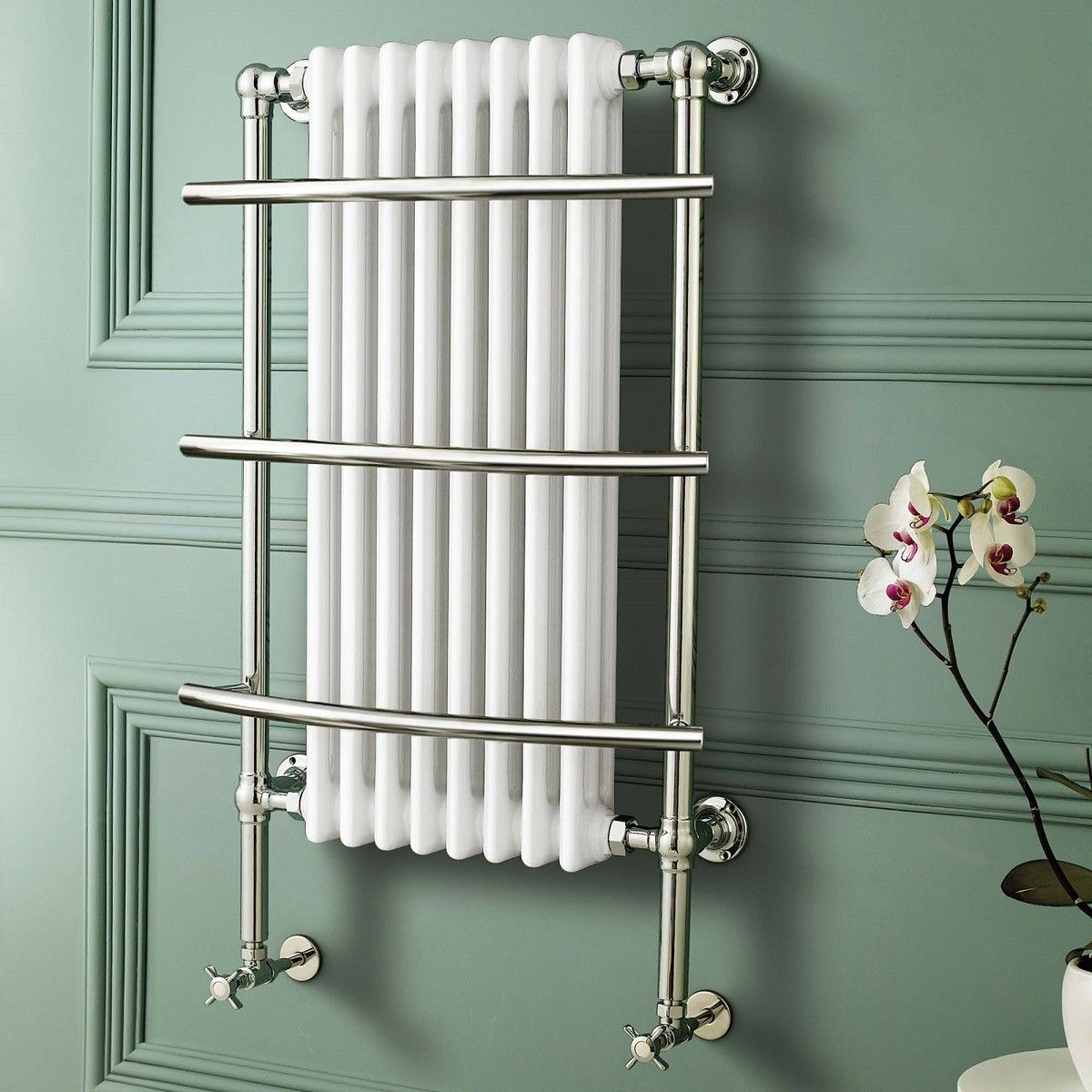 Small heated towel rails for bathrooms - Just Inc Vat Traditional White Wall Mounted Towel Rail Radiator Victoria Huge Stocks At The Cheapest Prices Order Your Here On Special Offer