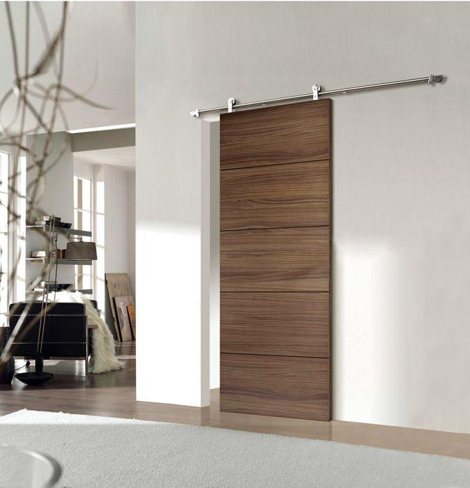 Puerta lm corredera exenta madera ideas para el hogar for Modelos de puertas de bano de madera