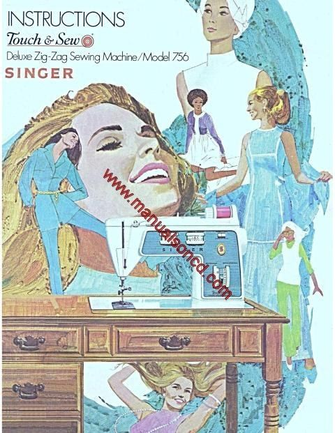 Singer  Sewing Machine Instruction Manual Touch And Sew