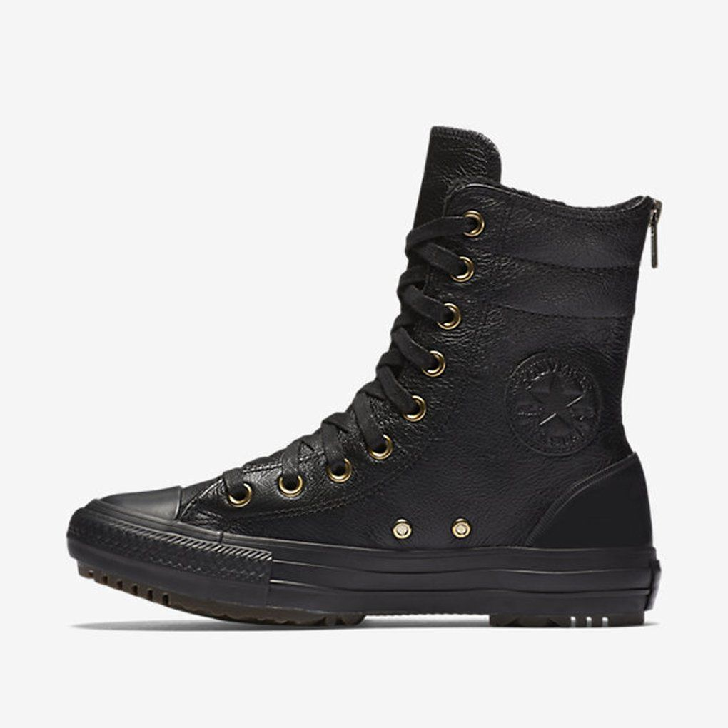 e487626fe56f Converse Women s Chuck Taylor All Star Leather + Fur Hi-Rise Boot XHi Deep  Bordeaux Black Black Athletic Shoe. Converse® adds some luxury to a classic  style ...
