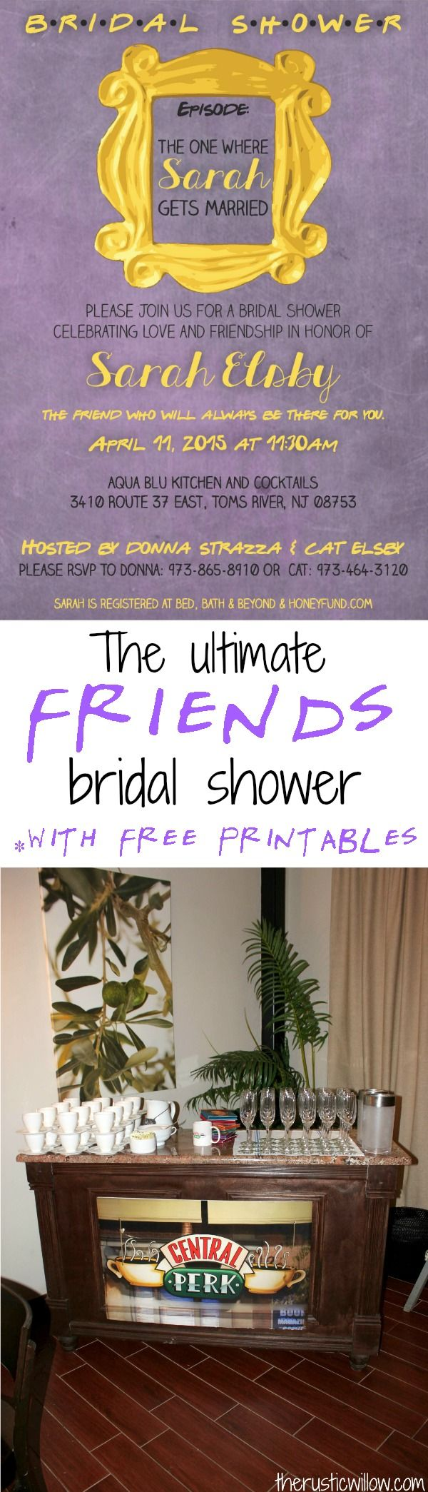 game for bridal shower free%0A The ultimate Friends Tv Show Bridal shower with free printables  games and  favor ideas