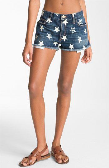 92173e1d9ad Current/Elliott 'The Boyfriend' Print Denim Shorts (Navy Stars Wash) |  Nordstrom