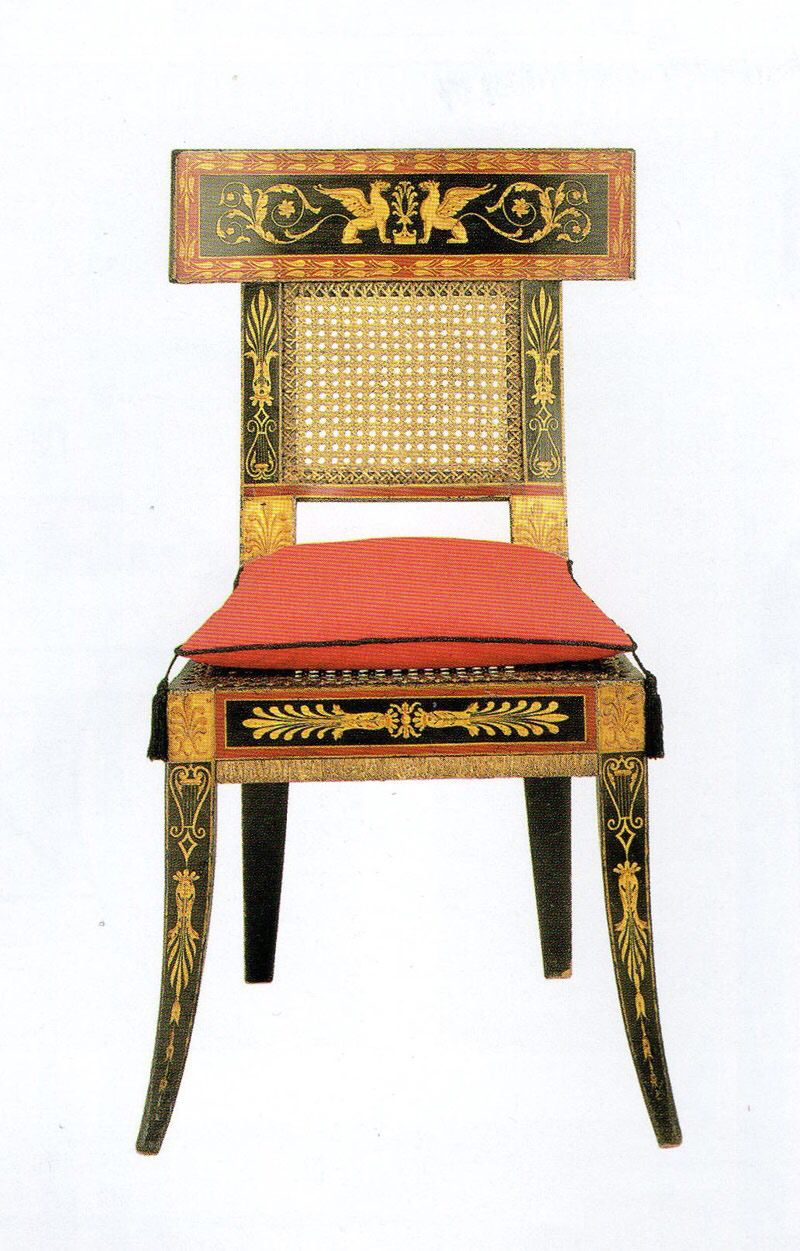Klismos Probably Regency Empire Periord Furniture Fine Styles