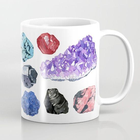 Rocks And Minerals Watercolor Mug David Scheirer Mugs Rocks