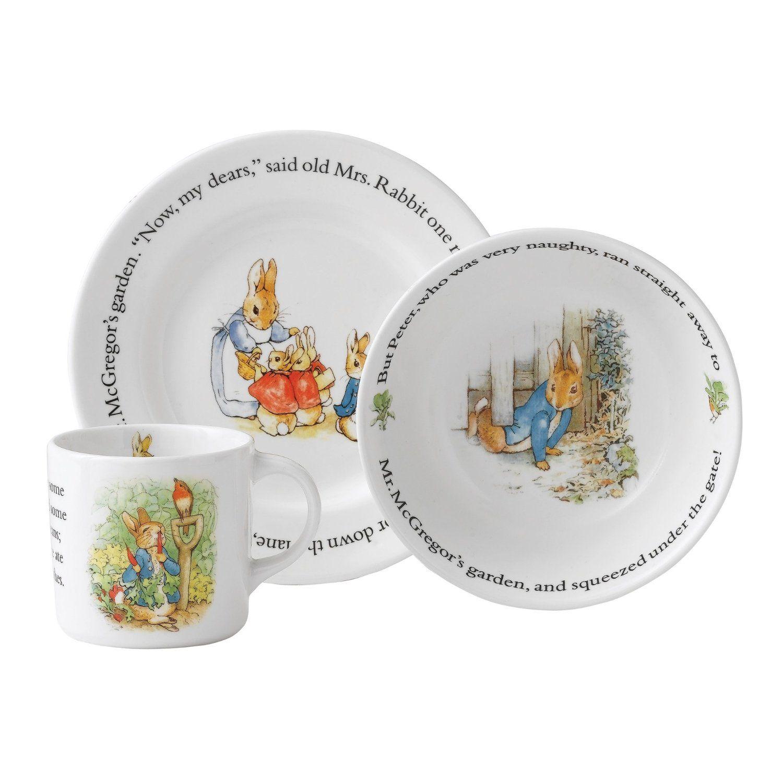 Amazon.com Wedgwood Peter Rabbit 3-Piece Set Dinnerware Sets Kitchen  sc 1 st  Pinterest & Amazon.com: Wedgwood Peter Rabbit 3-Piece Set: Dinnerware Sets ...