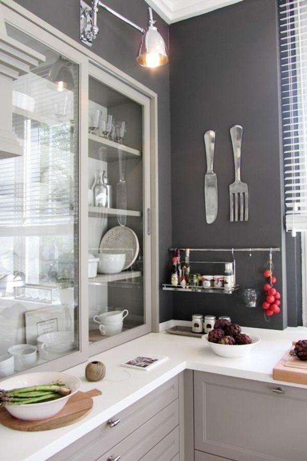 wandfarbe graut ne im einklang mit der mode bleiben wohnen einrichten pinterest k che. Black Bedroom Furniture Sets. Home Design Ideas
