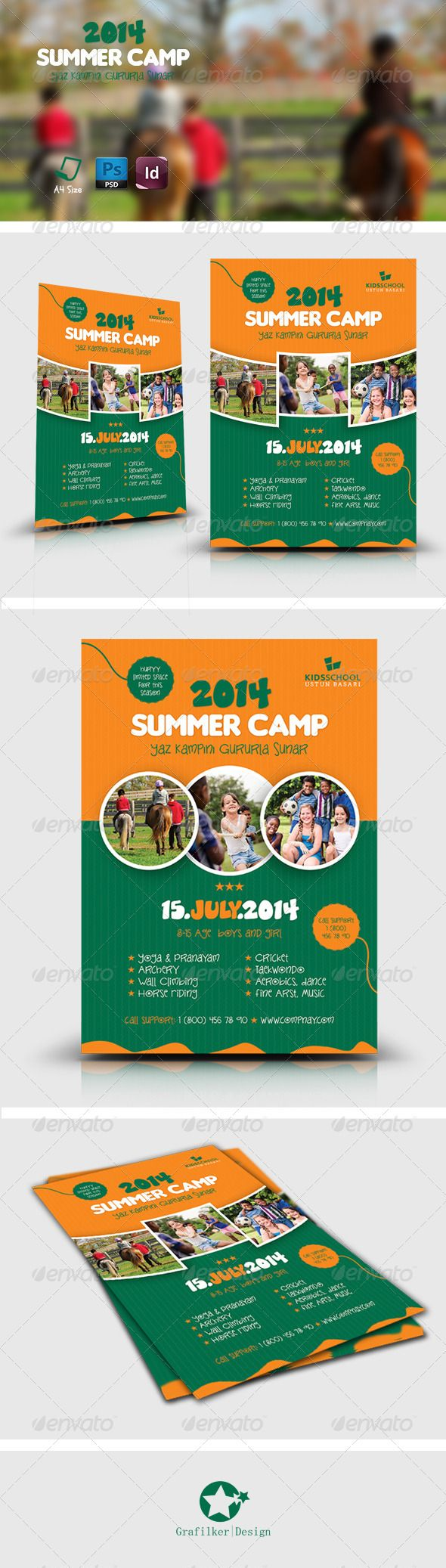 kids summer camp flyers summer graphics and summer activities summer camp flyer templates
