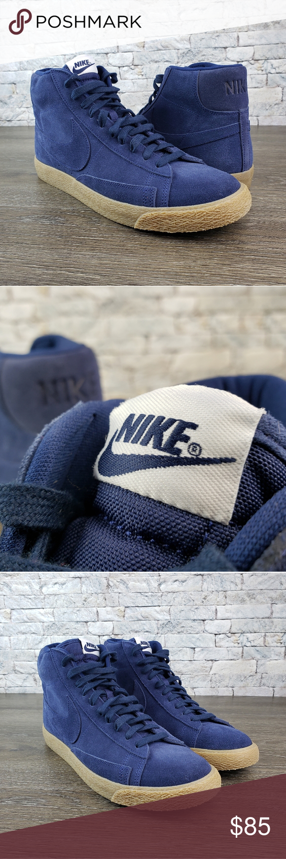 Nike Blazer Mid Premium Binary Blue Nike Blazer Blue Suede Nike