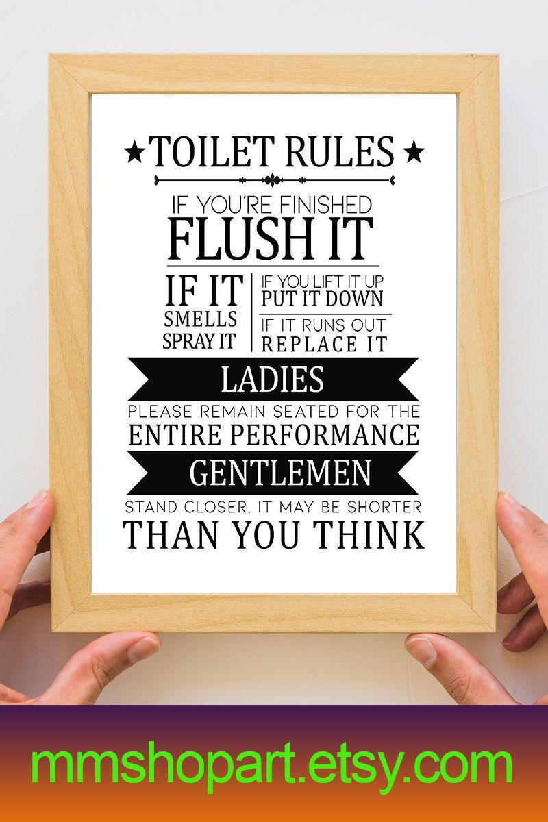 Toilet Bathroom Sign Toilet Door Sign Toilet Rules Sign Bathroom Rules Bathroom Sign Funny Toilet Sig Bathroom Signs Kids Bathroom Sign Funny Toilet Signs