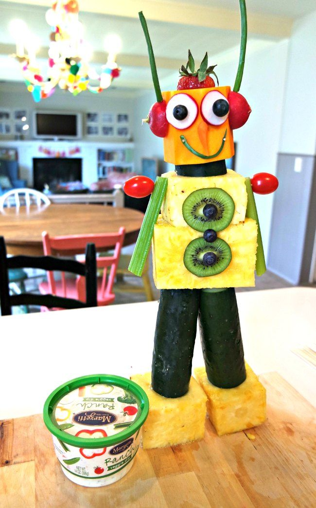 How to Make a Robot out of Fruit and Vegetables Kid