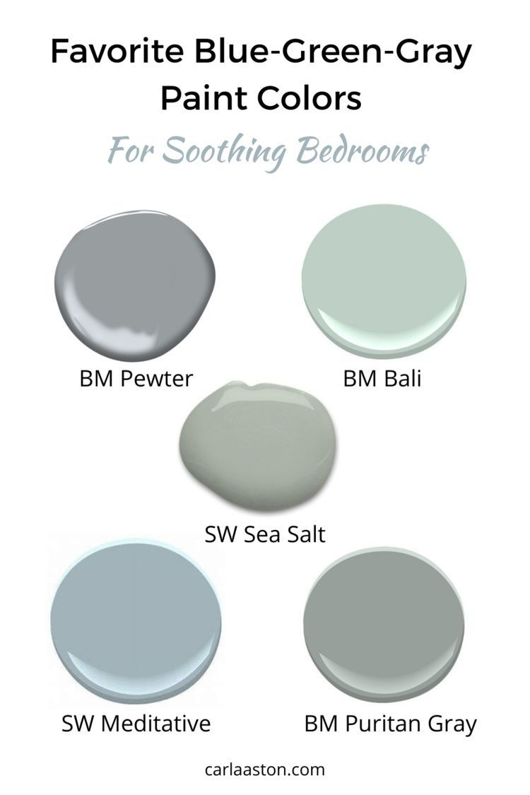 Favorite Blue Green Gray Paint Colors Perfect For A Tranquil Bedroom Designed In 2021 Grey Paint Colors Green Grey Paint Tranquil Bedroom Tranquil bedroom paint colors