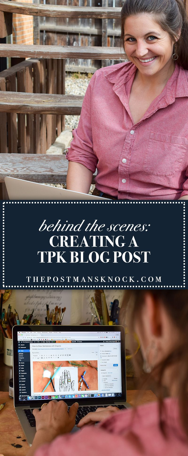 There are a lot of steps behind creating a blog post!