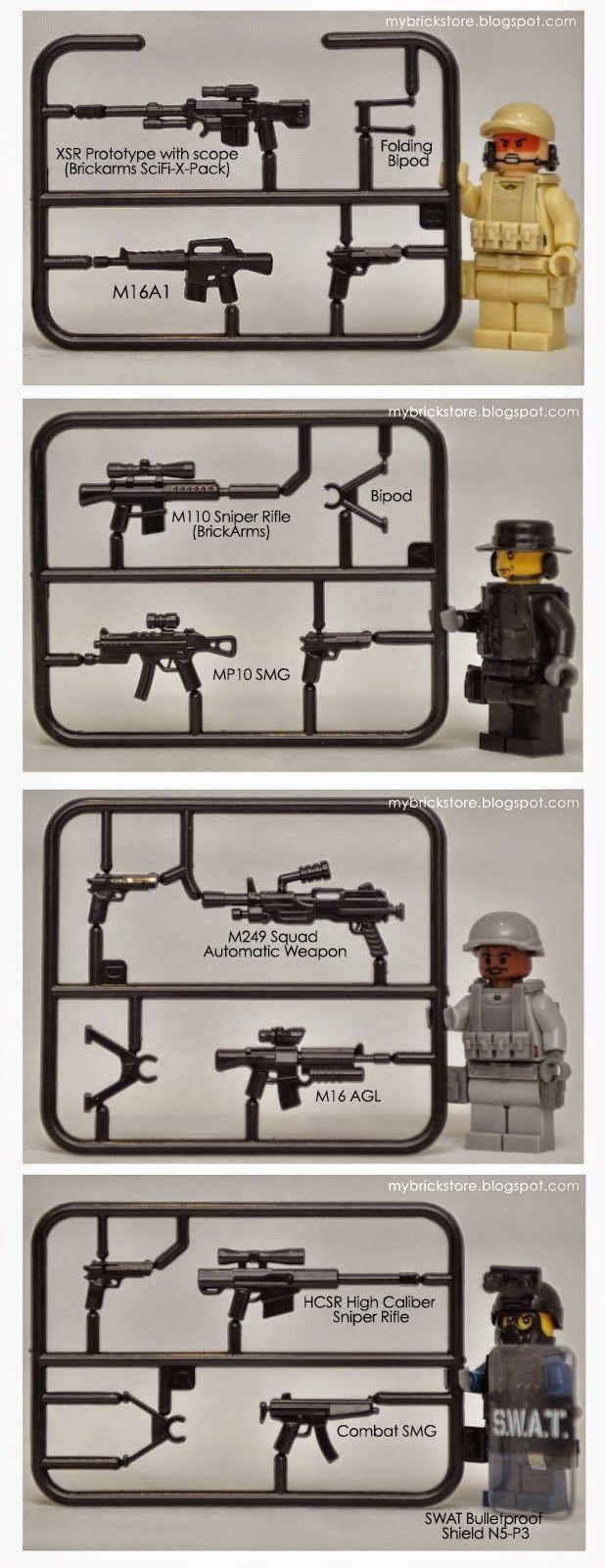 My Brick Store Swat By Sheng Yuan Set Of 4 Tactical Minifig