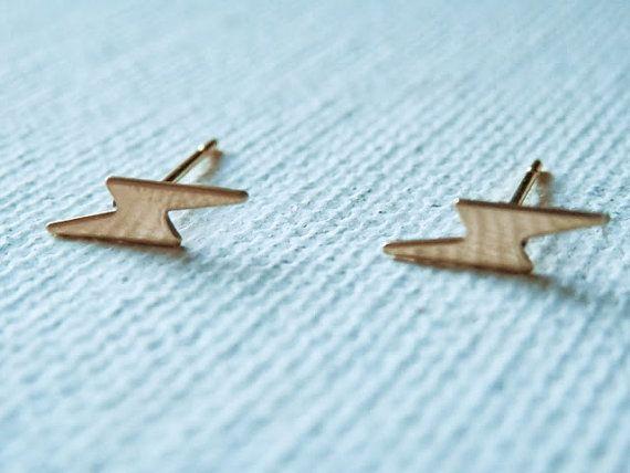 7ede0624c Lightning Bolt Studs - Lightning Bolt Earrings - Lightning Bolt Earring  Studs - Harry Potter Jewelry