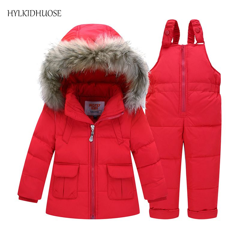 898ea19fc HYLKIDHUOSE Baby Girls Boys Winter Down Clothes Sets Outdoor Warm ...