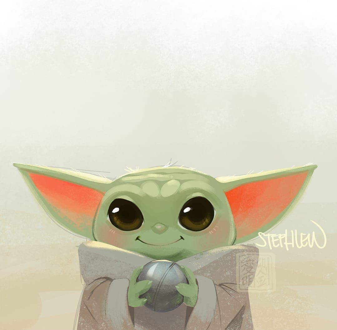 24k Likes 119 Comments Steph Lew Stephlewart On Instagram Baby Yoda Is Just So Cute Stephlew Photoshop Star Wars Love Star Wars Art Yoda Drawing