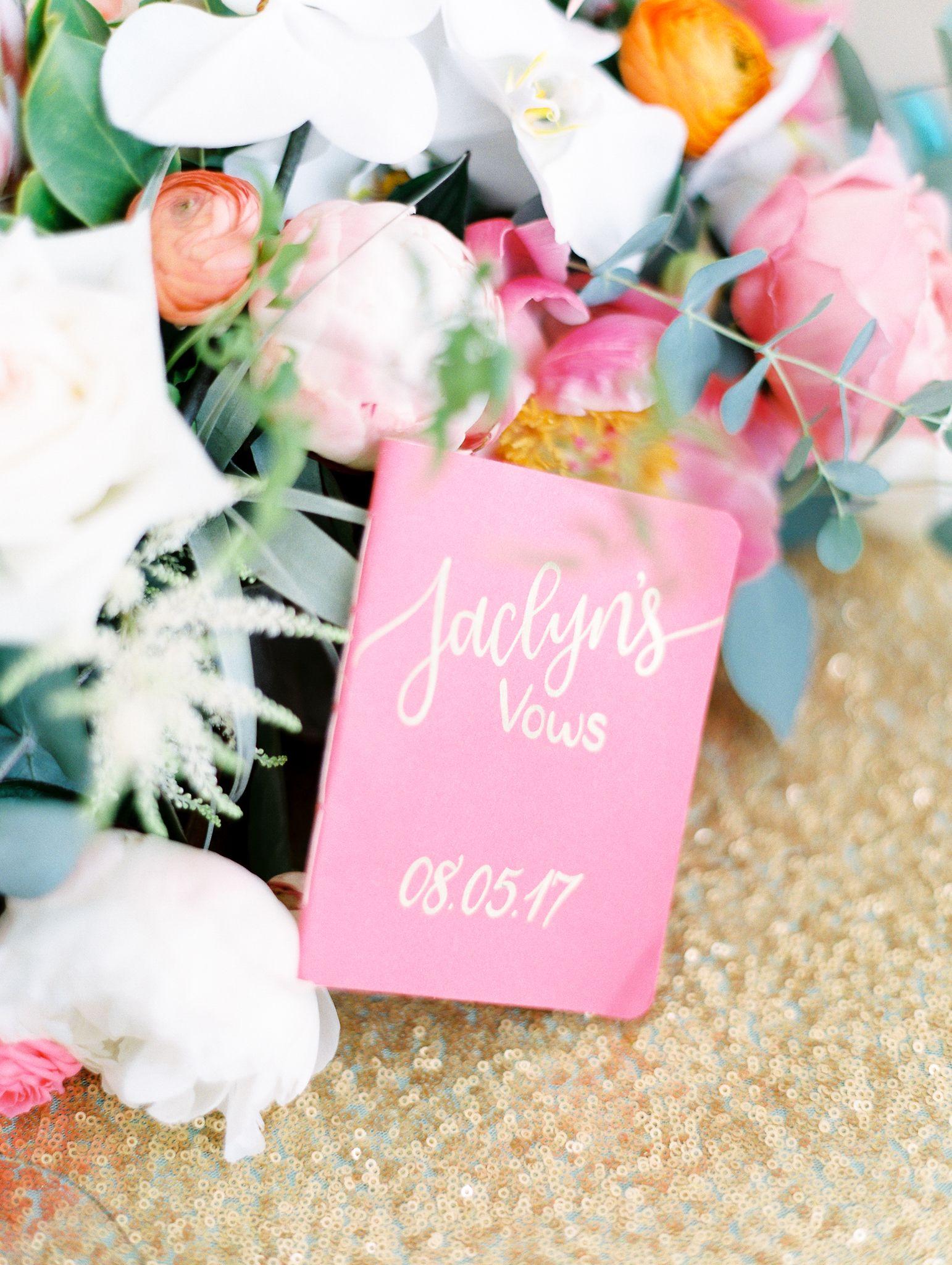 Pink Vow Book #mainewedding #weddingvows #vowbook #pinkvowbook ...