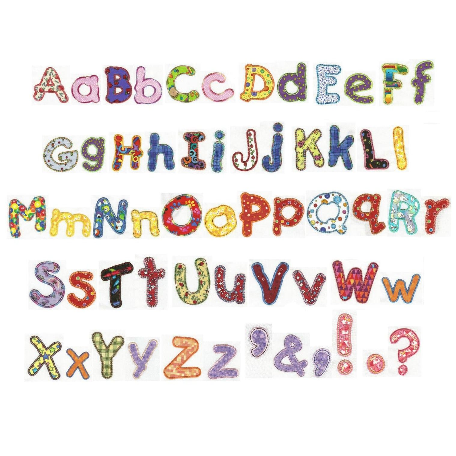 Chunky Alphabet Applique Machine Embroidery Font   Designs by JuJu