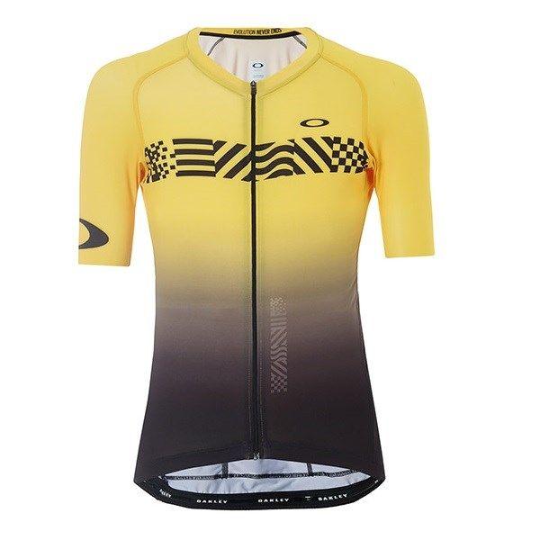 e3292668f Oakley Tour de France Colorblock Road Jersey Black Yellow