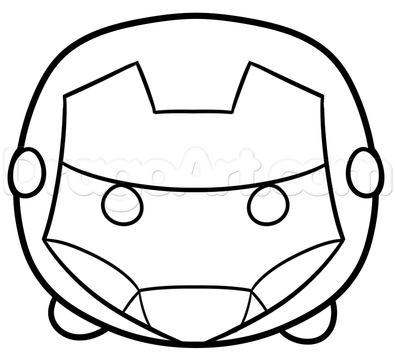 How To Draw Tsum Iron Man Step 4