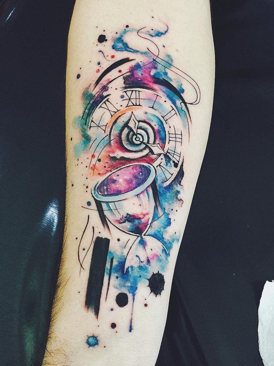 Ramon On Tattoos Color Tattoo Watercolor Compass Tattoo
