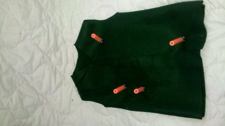 Dart vest I made for my son!