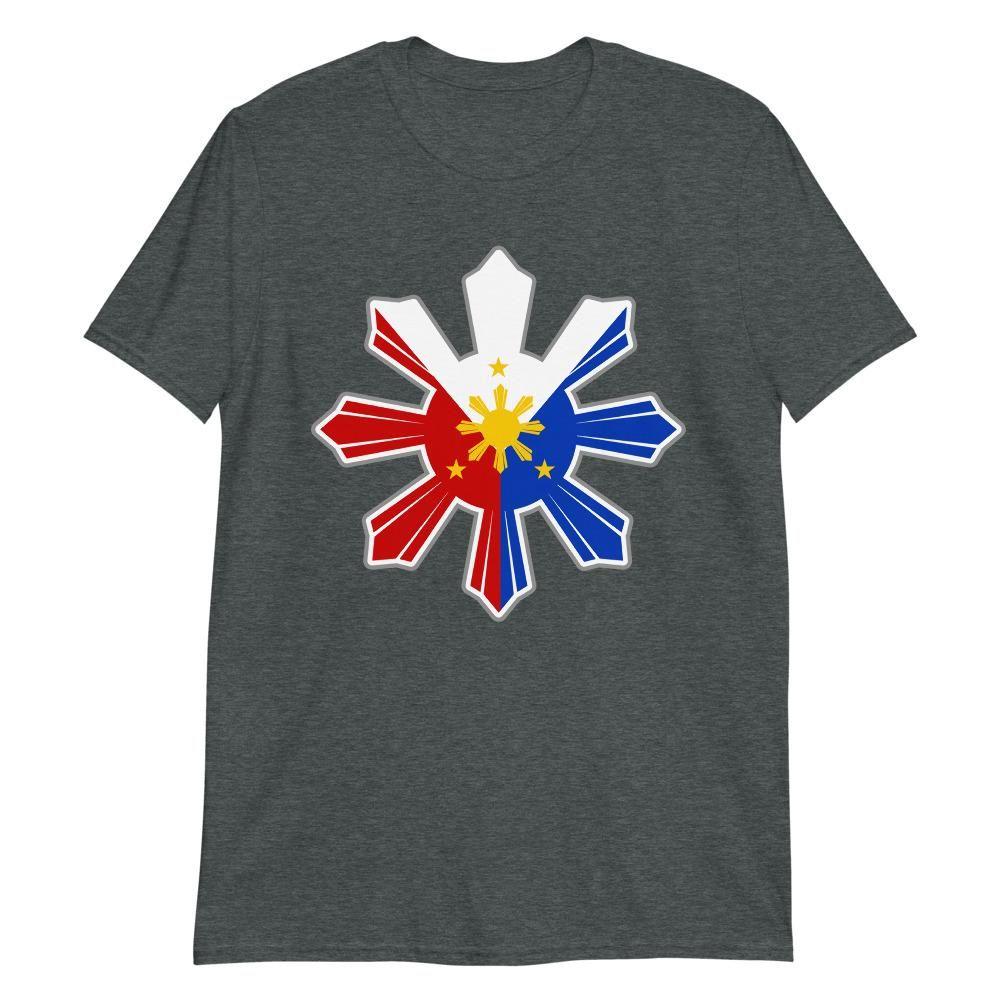 18 Philippine Flag In Sun Filipino Shirt   Dark Heather / 2XL