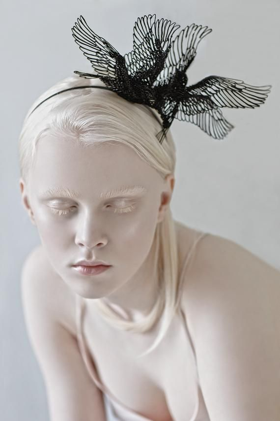 Black Birds headpiece, Halloween headpiece, Festival Headpiece, Black Dove headpiece, eco friendly, burning man costumes Festival crown