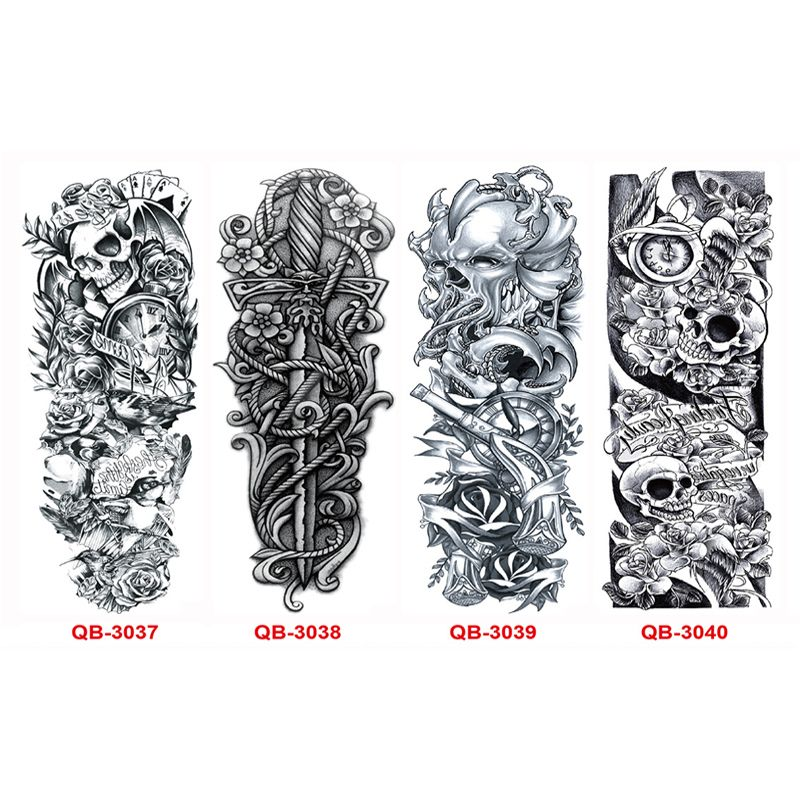 6d2c18921 3PC Temporary Tattoo Sleeve Designs Full Arm Waterproof Tattoos For Cool  Men Women Transferable Tattoos Stickers On The Body Art