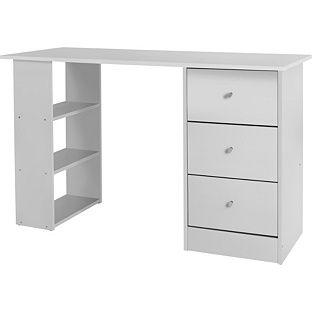buy new malibu 3 drawer desk white at argoscouk your - White Desk