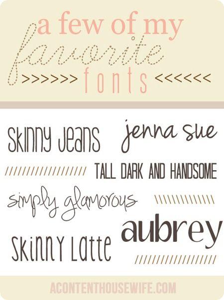 favorite fonts 1