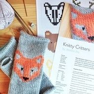 The Knitty Critters are a gang of six cute colour charts waiting to adorn your knits using duplicate stitch or fair-isle. There's a fox, bear, badger, deer, stag and a wolf. The pattern includes a fingerless mitten pattern to get you started, but let y...