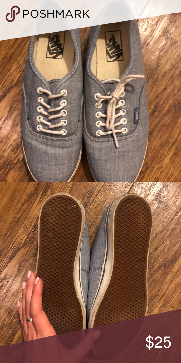 d21091c0ea Vans lace up sneakers blue Only worn twice! In great condition. Color is  like