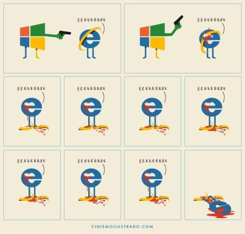 rip internet explorer funny illustrations pinterest