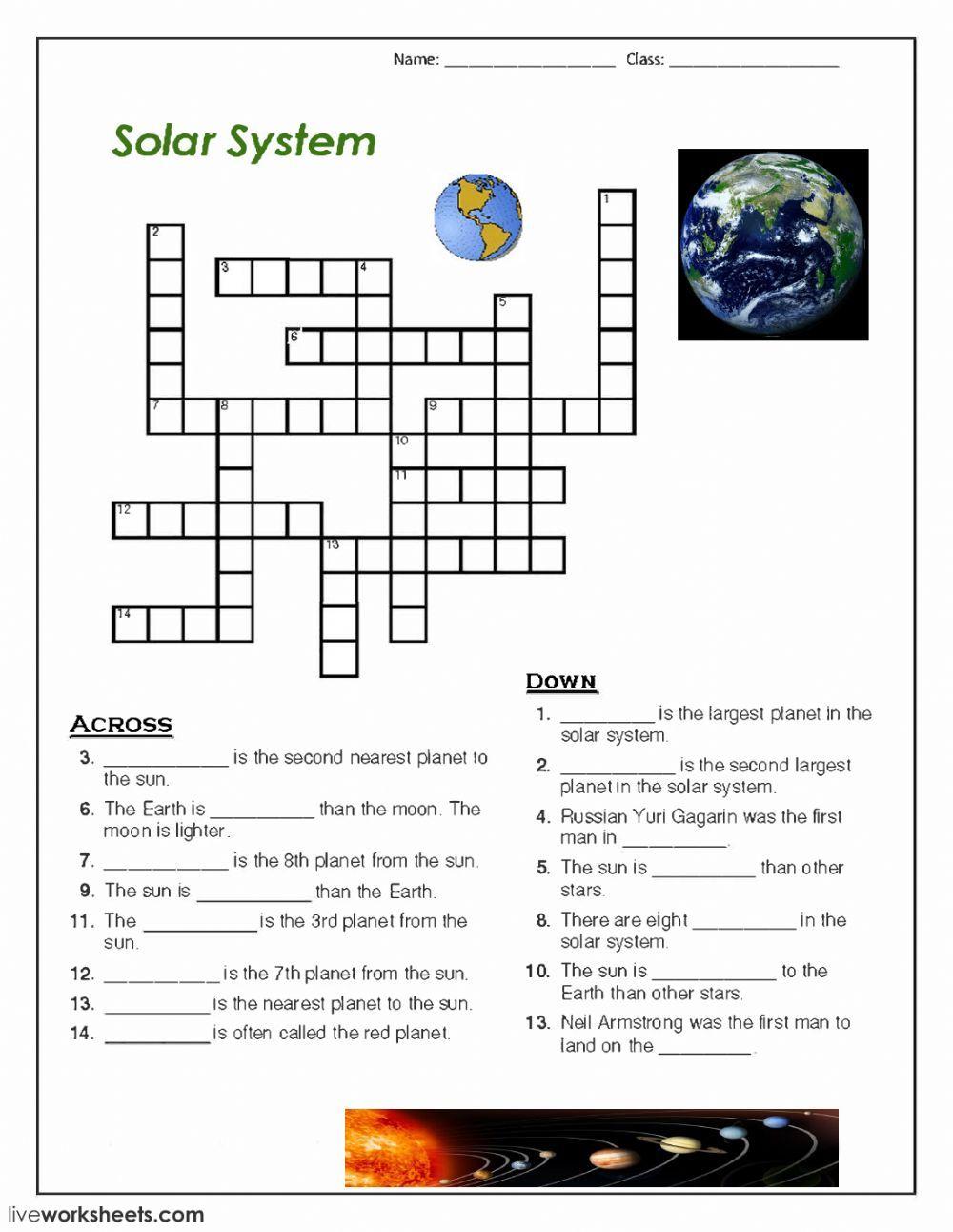 crossword Interactive worksheet in 2020 Solar