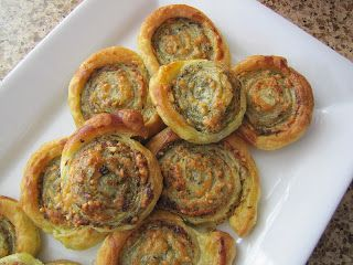 Easy and Delicious! Adventures in Food: Pesto Puff Pastry Pinwheels