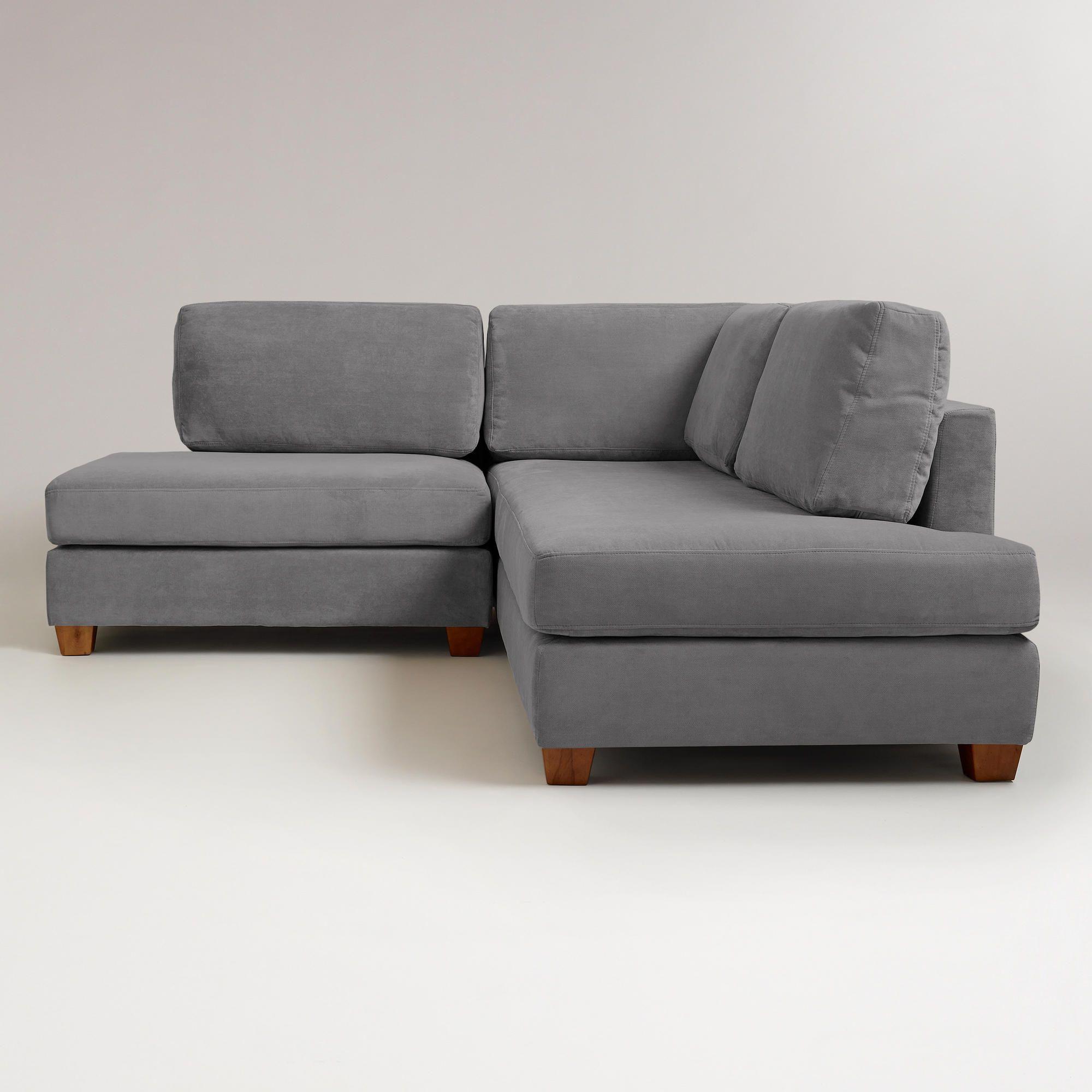 Charcoal Wyatt Sectional Sofa World Market