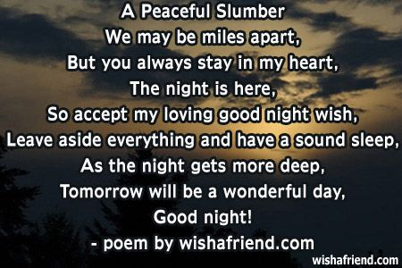 Good Night Quotes And Poems Quotesgram By At Quotesgram Sweet